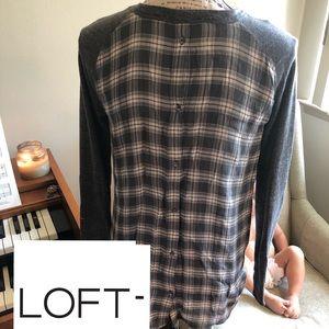 LOFT high-low long sleeve